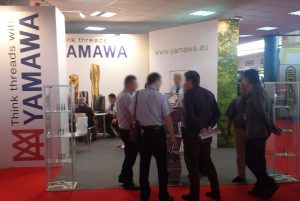 Yamawa-ATMA stand at the exhibition